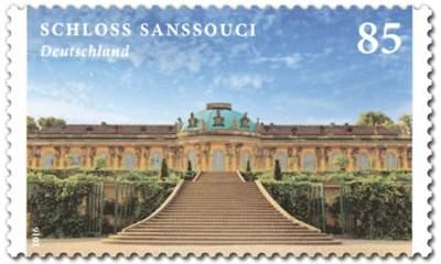 Briefmarke Schloss Sanssouci