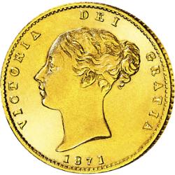 """1/2 Sovereign Victoria, """"Junges Porträt"""""""