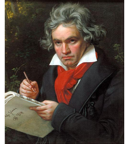 Portrait Beethovens von Karl Joseph Stieler 1820