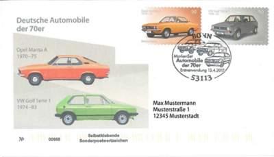 Ersttagsbrief Deutsche Automobile