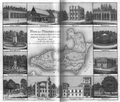 Gebäude der Pfaueninsel 1810