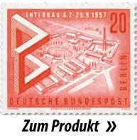 Briefmarke mit Sicht auf das Messegelände