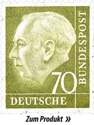 Briefmarke mit Theodor Heuss
