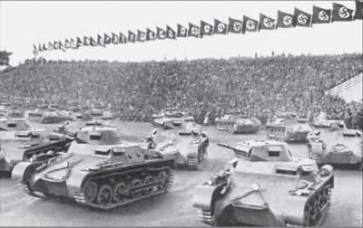 Panzerparade auf dem Nürnberger Parteitag