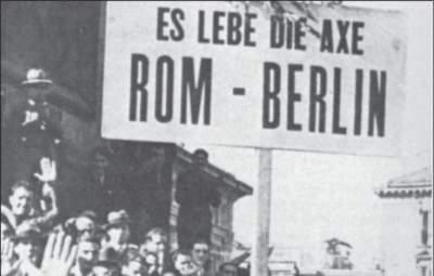 Kundgebung zur Feier der deutsch-italienischen Freundschaft.