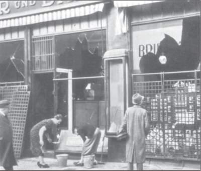 Demolierte jüdische Geschäfte.