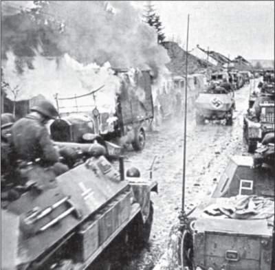 Einmarsch deutscher Truppen in die jugoslawische Stadt Nis.