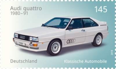 Briefmarkenserie Klassische deutsche Automobile
