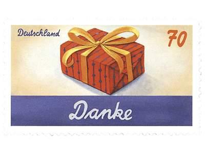 Briefmarkenserie Schreibanlässe: Danksagung