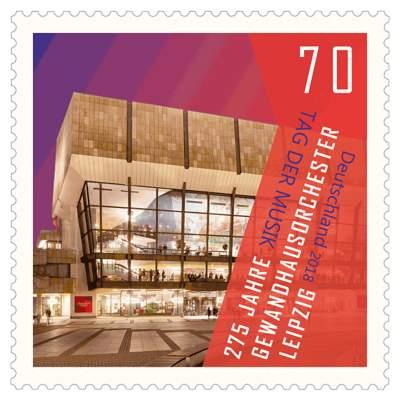 Briefmarke Tag der Musik - 275 Jahre Gewandhausorchester