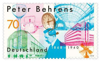 Briefmarke Peter Behrens