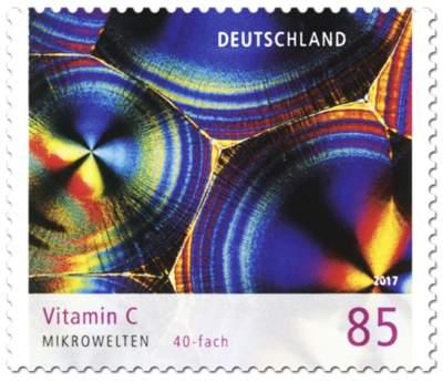 """Briefmarken-Serie """"Mikrowelten"""" Vitamin C"""