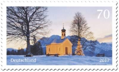 Briefmarke Weihnachtliche Kapelle