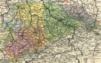 Kartenausschnitt mit den Landesgrenzen Sachsens