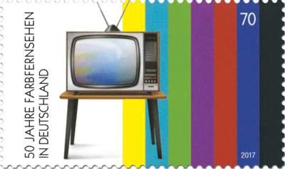 Briefmarke 50 Jahre Farbfernsehen in Deutschland
