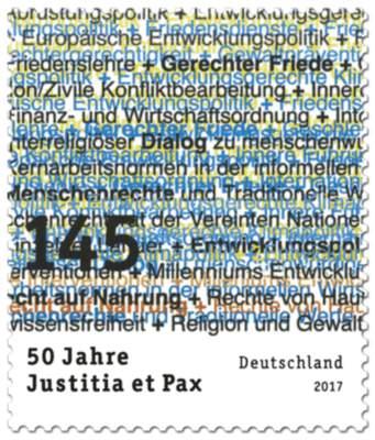 Briefmarke 50 Jahre Justitia et Pax