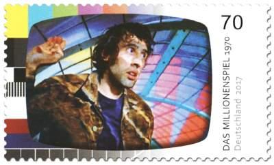 """Briefmarke """"Deutsche Fernsehlegende"""": Das Millionenspiel"""