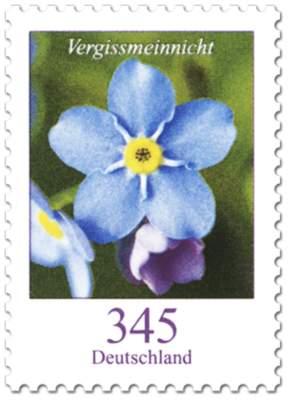 """Briefmarken-Serie """"Blumen"""" Vergissmeinnicht"""