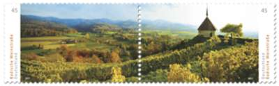 Briefmarke Badische Weinstraße/Markgräfleland