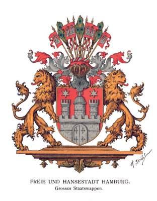 Das Wappen von Hamburg im Deutschen Reich