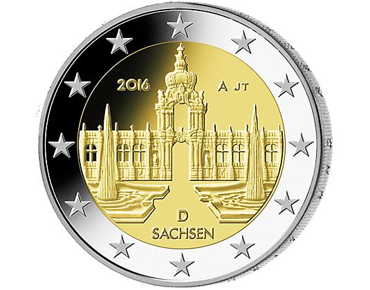 2 Euro Münze Sachsen