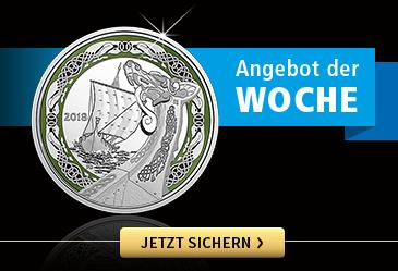Silber-Gedenkmünzen Wikinger Schiffe