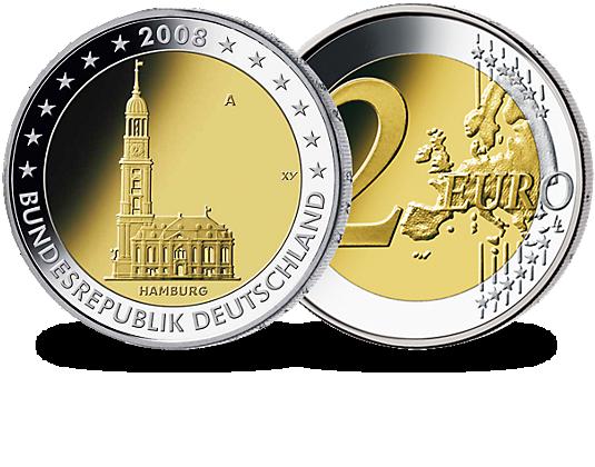2 euro munze hamburg 2008