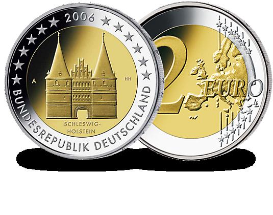 2 Euro MГјnze Schleswig Holstein 2006 Wert