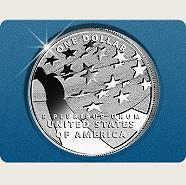 "USA ""Star-Spangled Banner Silver Dollar"""