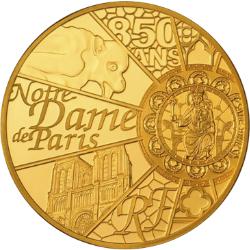 """1/4-Unze-Gold-Gedenkmünze """"850 Jahre Notre-Dame de Paris"""""""