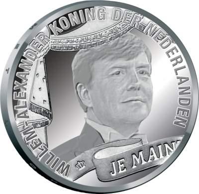 10 Euro Willlem-Alexander Silber