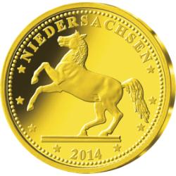 """Gold-Gedenkprägung """"Niedersachsen"""""""
