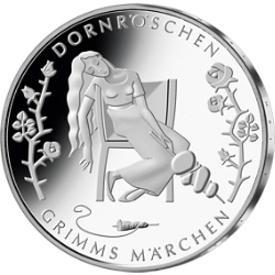 Gedenkmünze Grimms Märchen - Dornröschen