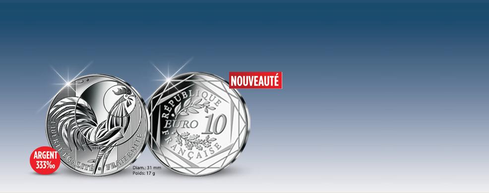 MDM - 10 Euros Coq argent 2016