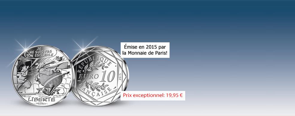 MDM - pièce 10 Euros Liberté Abraracourcix - Astérix 2015