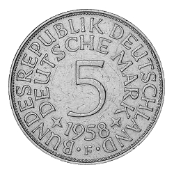 5- Mark Münze 1958