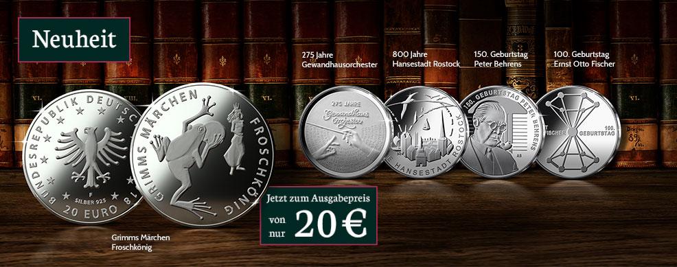 MDM - 20-Euro-Silber-Gedenkmünzen 2018