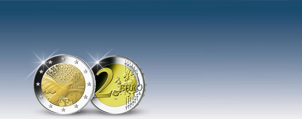 MDM - La monnaie française 2 Euros « 70 ans de la paix en Europe »