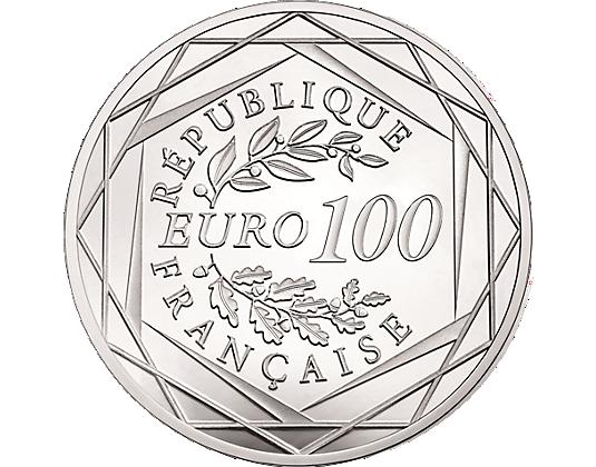 pi ce 100 euros coq argent 2016 soci t fran aise des monnaies. Black Bedroom Furniture Sets. Home Design Ideas