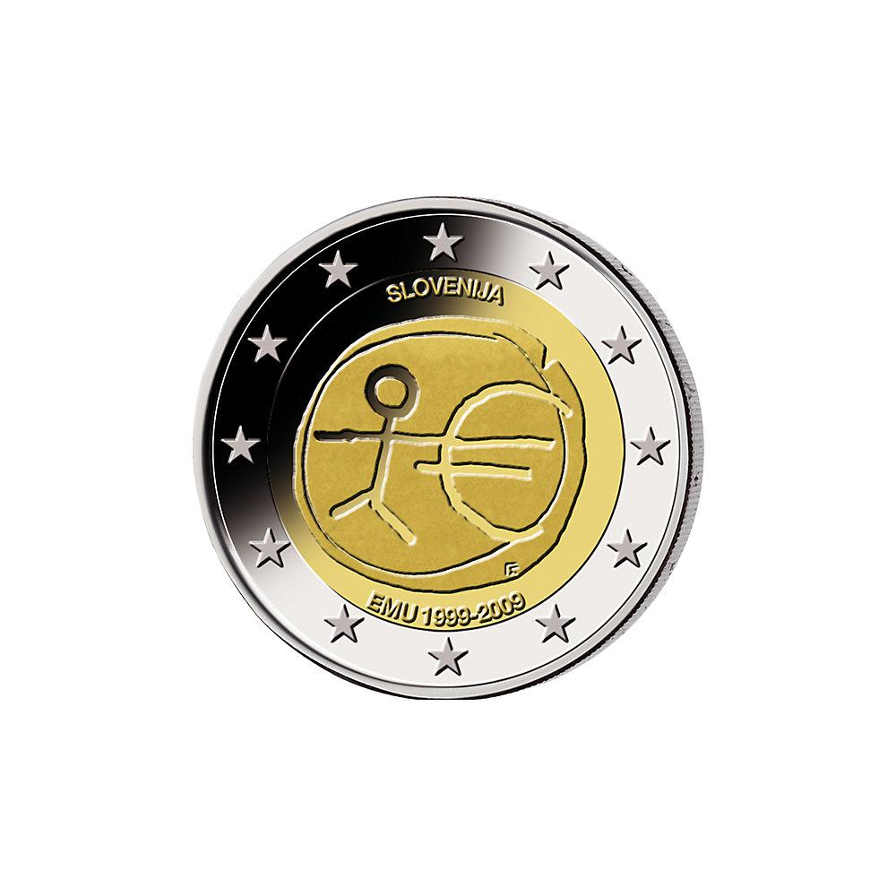 2 Euro Münze Slowenien 10j Währungsunion 2009 St Münzen Günstigerde