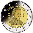 2 € Belgien 2009 Louis Braille