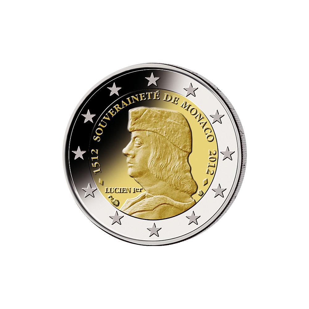 2 Euro 500 Jahre Souveränität Monaco 2012 Münzen Günstigerde