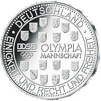 Olypiamünze Deutschland