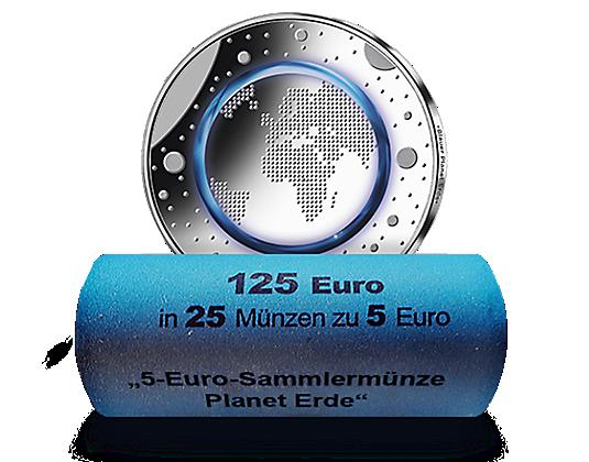 Original Münzrolle Der Offiziellen Deutschen 5 Euro Münze 2016