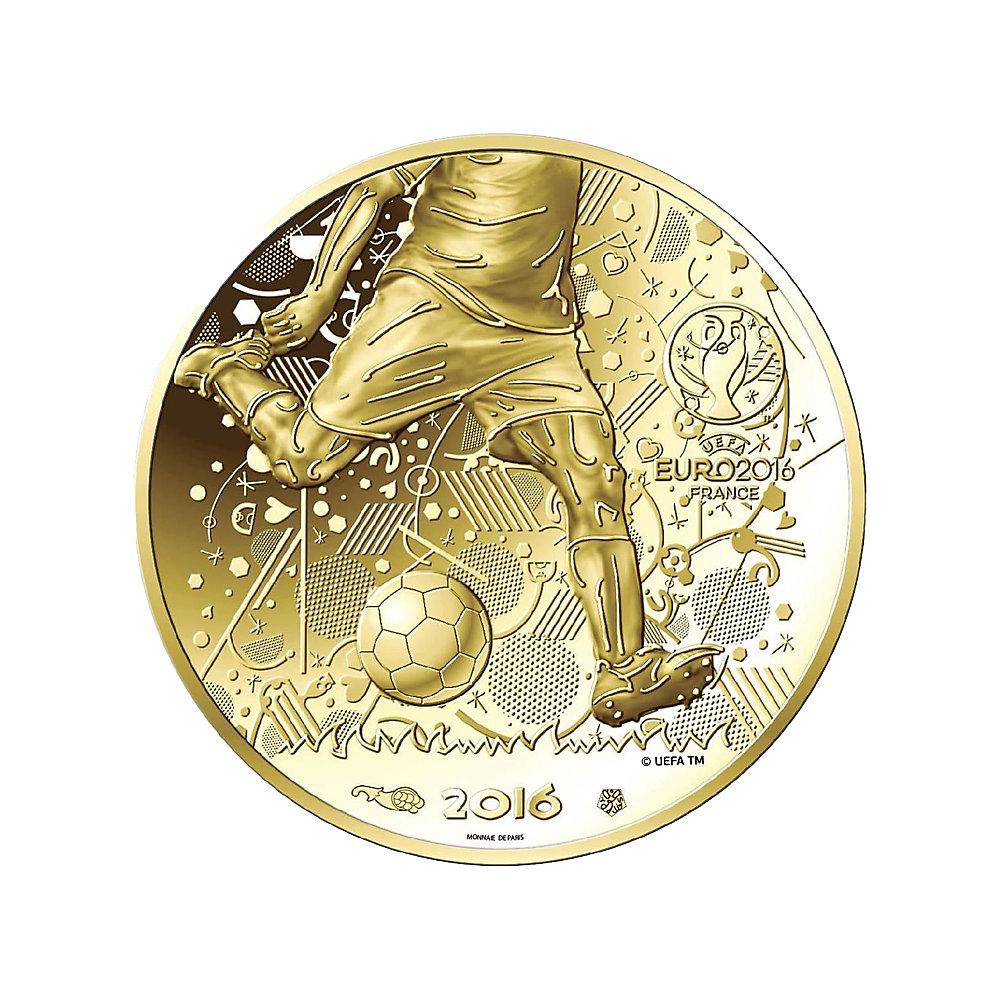 100 Euro Gold Frankreich Euro 2016 2016 Frankreich Euro Münzen