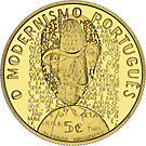 5 Euro Goldmünze Portugal Modernismus 2016 PP