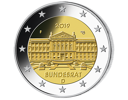 5 x 2 euro gedenkm nze 2019 bundesrat mdm deutsche m nze. Black Bedroom Furniture Sets. Home Design Ideas