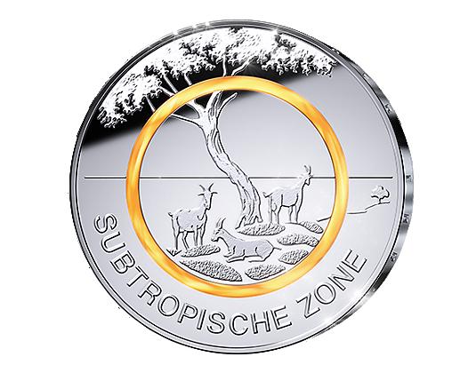 5 Euro Münze 2018 Subtropische Zone Ausreise Info