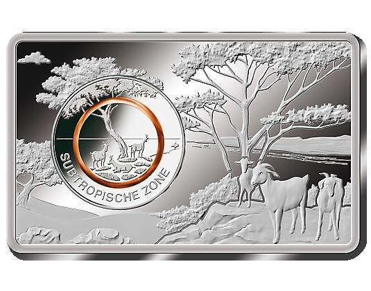Das Bild Wird Geladen Brd 5 X 5 Euro Bimetall Subtropische Zon