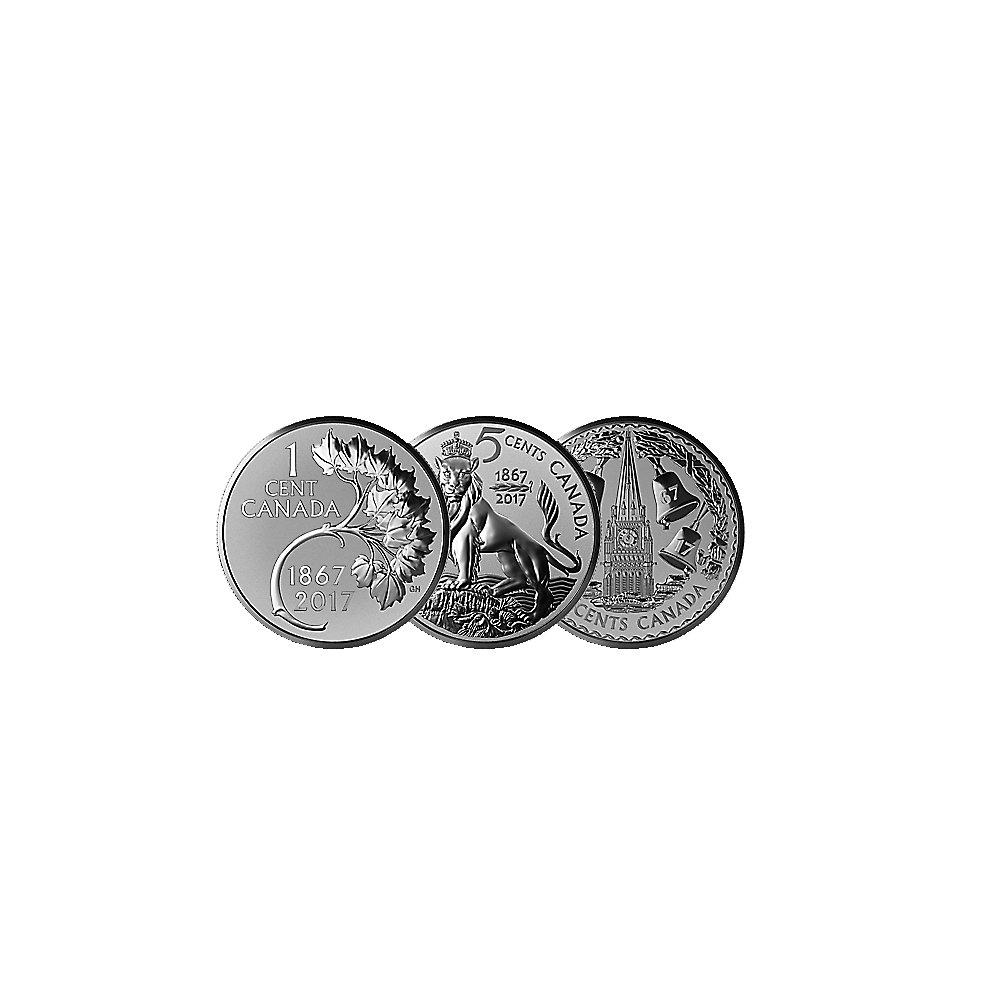 Silbermünzenset Kanada Die Vergessenen Designs 2017 Pp